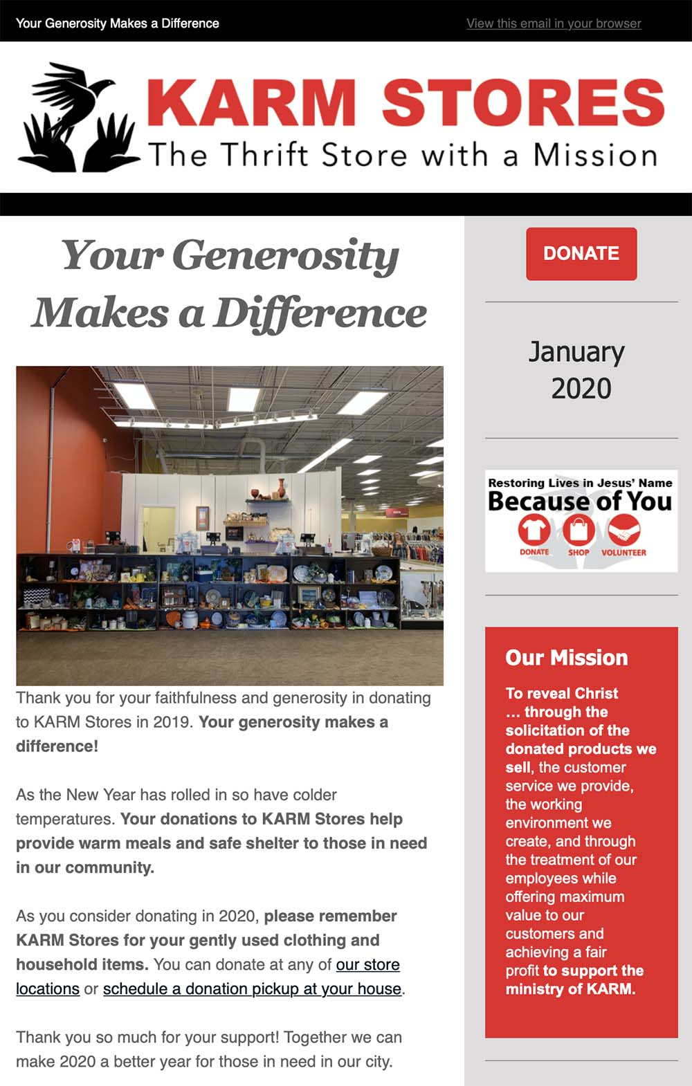 KARM: Your Generosity Makes a Difference