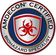 AMDECON Certified Biohazard Specialist