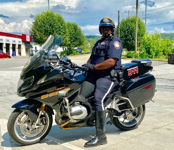 Officer Jones on Motorcycle