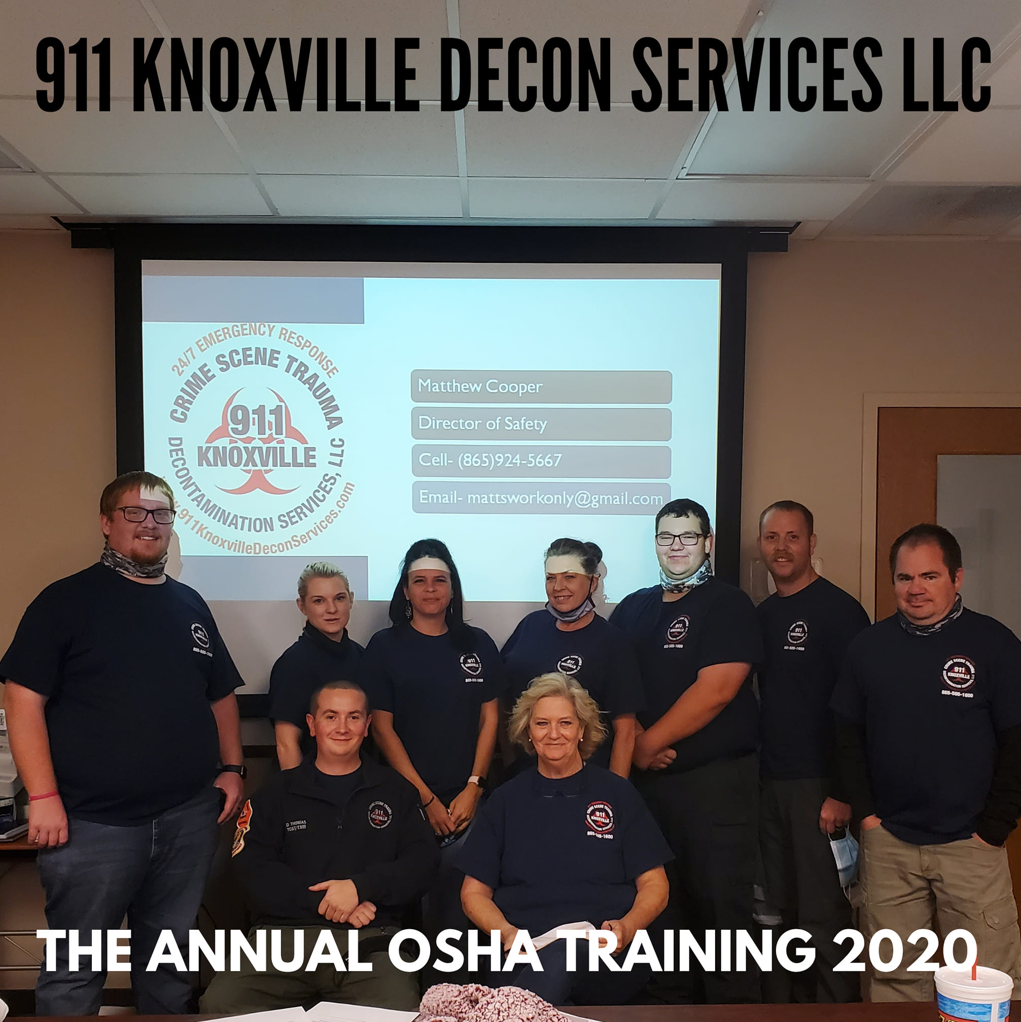 Thanks to Sevier County EMS we were able to use their training room for our Annual OSHA Training